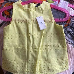 Highlighter yellow girls tank top